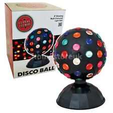 "8"" ROTATING MULTI COLOUR DISCO BALL CHANGING LIGHT DANCE PARTY STAGE FLOOR 45970"