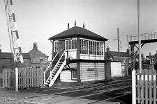 Oakham Level Crossing Signal Box Leics 1976 Rail Photo