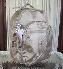 Kipling Seoul Large Laptop Backpack Champagne Metallic Gold BP3772 NWT