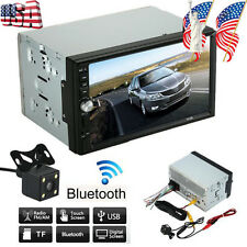 "7"" HD Touch Screen Double 2 DIN Car GPS Stereo VCD Player Bluetooth Radio+Camera"