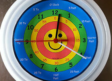 CHILD'S, LEARN TO TELL THE TIME  WALL CLOCK EDUCATIONAL TEACHING SCHOOL AID ID