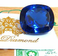 GIA Certified 62.60ct Natural Blue Cushion Cut Tanzanite Magnificent