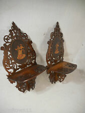 Pair of Vintage Sorrento Ware Wall Shelves  1552