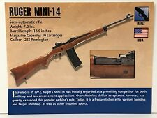 RUGER MINI 14-RIFLE .223 Remington Firearms ATLAS PHOTO SPEC HISTORY CARD