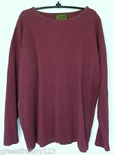 EDDIE BAUER Womens Size L Red Bergundy Long Sleeve Ribbed Base Crew Neck Shirt