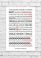 The Janoskians - MoodSwings - Song Lyric Art Poster - A4 Size