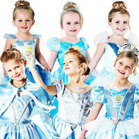 Cinderella Princess Girls Fancy Dress Childrens Kids Child Costume Disney Outfit