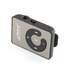 Mini Mirror Clip Mp3 Sport Music With TF-Card Slot Suppot Up To 8GB Black New