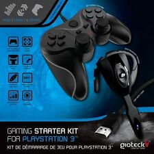 Gioteck Gaming Starter Kit for PS3 - Bluetooth Headset, Controller, HDMI Cable