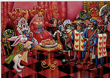 VERY RARE Alice in Wonderland Queen of Hearts by Belova Russian modern postcard