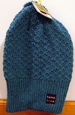 NWT Adult Hempys Eco 2 Cotton Winter Cap Royal Made in USA