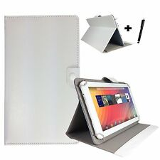 "10 inch Case Cover Book For Linx 10 Intel Atom Z3735F Tablet - 10"" White"