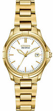 New Citizen Ladies Eco Drive Gold Tone Stainless Steel Watch EW1962-53A
