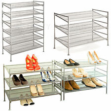 3 Tier Stackable Storage Metal Shoe Rack Multi-Tier Iron Mesh Utility Shelving