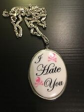 Tarina Tarantino I Hate You Necklace RARE Jewelry Goth Punk  Statement Piece