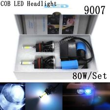 COB 80W 8000LM 9007 Xenon 10000K Blue LED Headlight Lamp Bulb KIT High Power TY