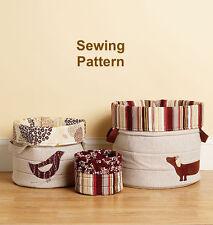 Kwik Sew K3938 Pattern Nora's Nesting Baskets OSZ BN