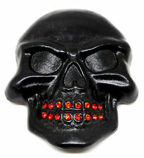 Skull Belt Buckle 3D Matt Black Dark Gothic * UK Seller * Easy Returns