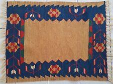 Vintage Turkish Floor Doormat Small Kilim Yastik Rug Woolen Handmade Bath Mat