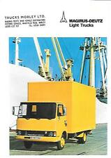 MAGIRUS DEUTZ LIGHT TRUCK,  LORRY BROCHURE 1977