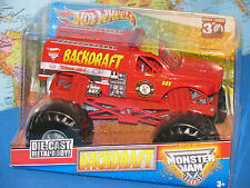 1/24 HOT WHEELS MONSTER JAM BACKDRAFT TRUCK 30th  ANNIVERSARY *BRAND NEW & RARE*