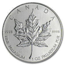 1 oz Palladium Canadian Maple Leaf Coin - Random Year Coin - SKU #32457
