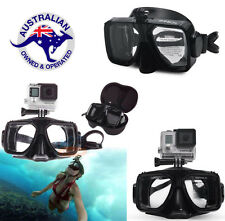 Diving Scuba Snorkel Swimming Goggles Camera Mount Mask For GoPro Hero 2 3 4