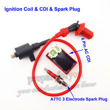 Ignition Coil CDI Spark Plug GY6 50 125cc 150cc Engine Moped Scooter ATV Go Kart