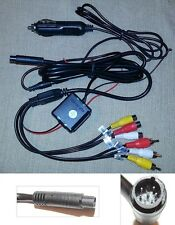 Headrest Monitor DVD Player Power Supply Cable with Cigarette Lighter Plug C