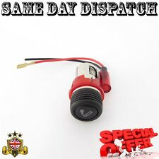 RED Cigarette lighter cigar PLUG & SOCKET FOR VW Golf Passat mk2 mk3 mk4 Polo