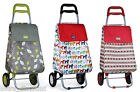 Insulated Folding Festival Shopping Pull Trolley Light Weight Bag Cart Wheels