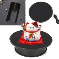 8'' Anti-slip ABS Black Rotating Turntable Display Stand Power by AC & Battery