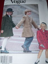 VOGUE #7903 - BOY'S or GIRLS DOUBLE BREASTED WINTER COAT w/POCKETS PATTERN 2-4uc