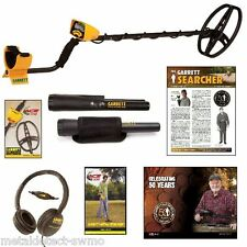 New GARRETT ACE 350 Metal Detector with Headphones and Pro-Pointer Pinpointer