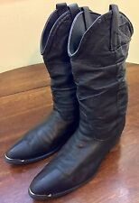 "Mens Size 8 Dingo Pigskin Leather Slouch Cowboy Motorcycle Boots 11"" Shaft 15240"
