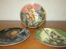 "collection of THREE THE LORD OF THE RINGS 'WEDGWOOD' 8""  FINE BONE CHINA PLATES"