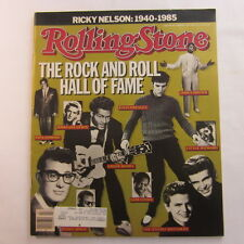 Rolling Stone Feb. 13, 1986 The Rock and Roll Hall of Fame Very Good Condition!