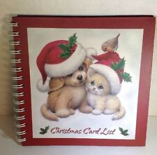 New Christmas Card Address Book A-Z Pages 8x8 Gift Organize Kitten & Puppy