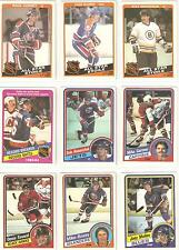 1984-85 OPC  NR SET  325/396...82% OF SET  INCLUDES STARS RC HOFERS!!  SEE SCAN!