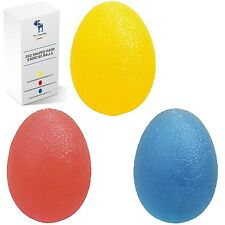The Friendly Swede Hand Squeeze Exercise Balls Combo Kit Set of 3 Egg Shaped ...