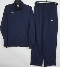 NIKE TEAM BASKETBALL WARM UP SUIT JACKET + PANTS NAVY BLUE NEW (SIZE LARGE-TALL)