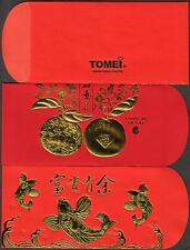 Tomei 2013 CNY 2 pcs loose Mint Flat Set Red Packet Ang Pow
