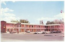 "Billings MT The Town House ""Best Western""  Signage Old Cars Postcard"