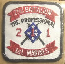 USMC 2nd Battalion 1st Marines the Professional Embroidered Patch