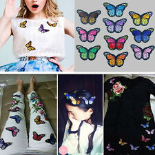 DIY 10 Badge Embroidery Sew On Patch Butterfly Embroidered Fabric Applique