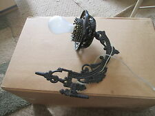 CAST IRON Wall Mount LAMP BRACKET Electrified ANTIQUE/VTG