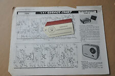 Vintage radio manual- ERT service chart. Ever Ready Car Portable, Defiant A5