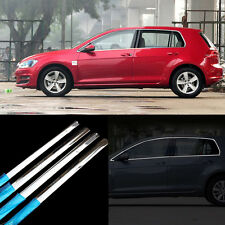 10pcs New Stainless Steel Door Window Frame Sill Molding Trim For VW Golf 7