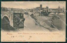 Roma Isola Tiberina cartolina XB4594