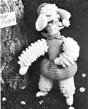 1950's CHIC POODLE - toy knitting pattern